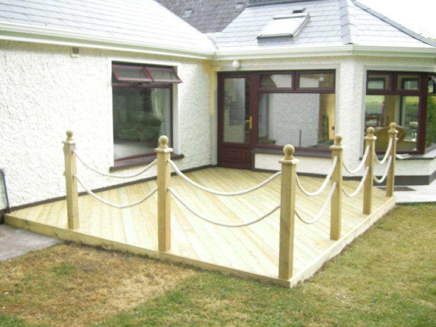 Decking Feature Maguire Carpentry Services Carpenter Cavan - Garden decking rope